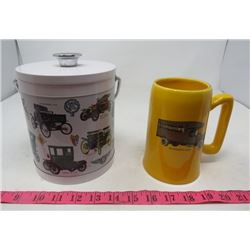 ICE BUCKET  AND MUG (CLASSIC CARS) *KENWORTH 1926*