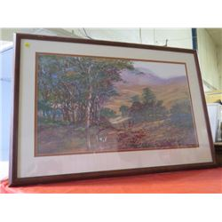 "PRINT (FOREST SCENE) *FRAMED* (38"" X 26"")"