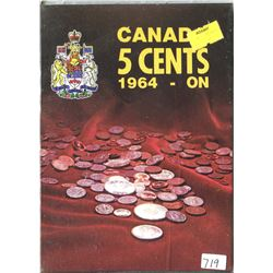 LOT OF 17-FIVE CENT COINS (CANADA) *DATED 1964 AND ON* (IN SLIP E-Z PACKAGE)