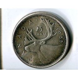 TWENTY FIVE CENT COIN (CANADA) *1965* (SILVER)