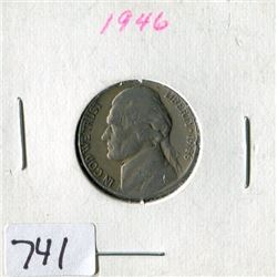 FIVE CENT COIN (USA) *1946*