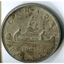 ONE DOLLAR COIN (CANADA) *1962* (SILVER)