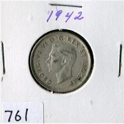 25 CENT COIN (CANADA) *1942*