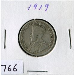 25 CENT COIN (CANADA) *1919*