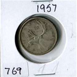 25 CENT COIN (CANADA) *1957*