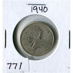 25 CENT COIN (CANADA) *1940*