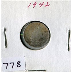 10 CENT COIN (CANADA) *1942*