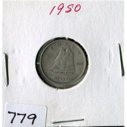 10 CENT COIN (CANADA) *1950*