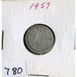 10 CENT COIN (CANADA) *1957*