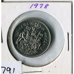 FIFTY CENT COIN (CANADA) *1978*