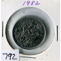 FIFTY CENT COIN (CANADA) *1982*