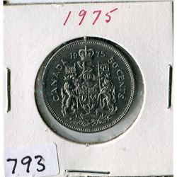 FIFTY CENT COIN (CANADA) *1975*