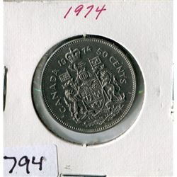 FIFTY CENT COIN (CANADA) *1974*