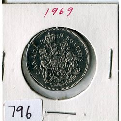 FIFTY CENT COIN (CANADA) *1969*