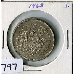 FIFTY CENT COIN (CANADA) *1963*