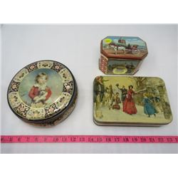 LOT OF 3 TINS (VINTAGE) *ONE TIN CONTAINS AN ASSORTMENT OF BUTTONS*