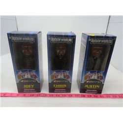LOT OF 3 N'SYNC BOBBLE HEAD DOLLS (NEW IN BOX) *CHRIS, JOEY AND JUSTIN*