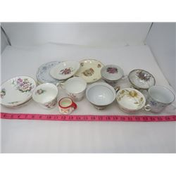LOT OF ASSORTED TEA CUPS AND PLATES