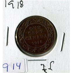 LARGE 1 CENT COIN (CANADA) *1918*