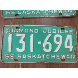 LOT OF 9 ASSORTED LICENCE PLATES