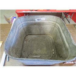 LOT INCLUDING A GALVANIZED TUB AND TOOLBOX (TOOLS INCLUDED)