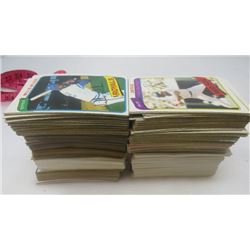 "LOT OF BASEBALL CARDS (RED SOX, BLUE JAYS, FLEER 90, TOPPS, TIGERS, CHICAGO WHITE SOX, ETC) *7.5"" HI"