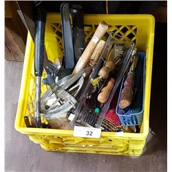 CRATE OF ASSORTED TOOLS