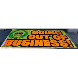 VINYL CLOSING OUT SALE STORE BANNER