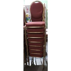 STACK OF 8 BANQUET CHAIRS