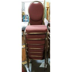 STACK OF 7 BANQUET CHAIRS