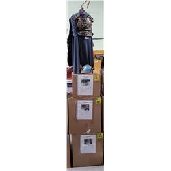 MOVIE PROP LOT - ROMAN GLADIATOR COSTIME ON STAND & 3 LARGE UNOPENED BOXES