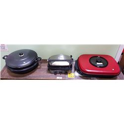 CUISINART GRIDDLE, ELECTRIC FRYING PAN ETC