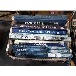 BOX OF 11 LARGE HARD COVER COFFEE TABLE BOOKS