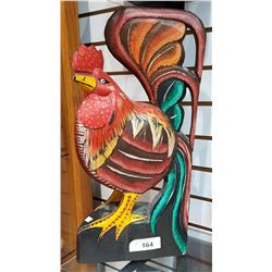 LARGE WOOD ROOSTER