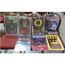 7 ASSORTED CONCERT POSTERS
