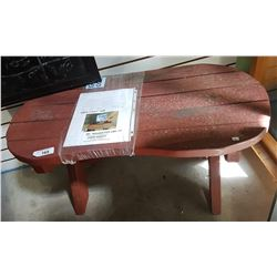 RED WOOD BENCH - MOVIE PROP