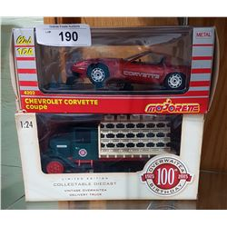 TWO DIE CAST CARS IN BOX