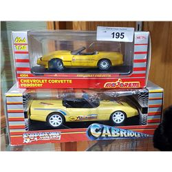 TWO DIE CAST CORVETTE CARS