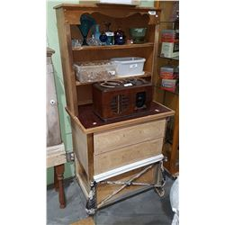 FARMHOUSE KITCHEN CABINET (HOOSIER STYLE)