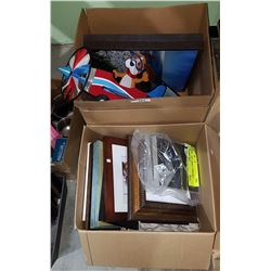 TWO BOXES OF ASSORTED PICTURES