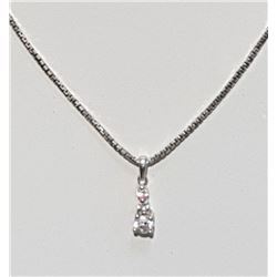 DIAMOND PENDANT ON STERLING SILVER NECKLACE