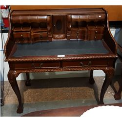 MAHOGANY ESCATOIRE DESK ON BALL IN CLAW LEGS
