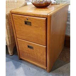OAK 2 DRAWER FILING CABINET