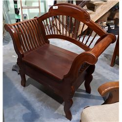 LARGE MAHOGANY EMPIRE STYLE ENTRANCE BENCH