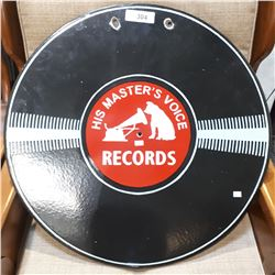 DOUBLE SIDED RECORD PORCELAIN SIGN