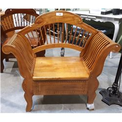 OAK EMPIRE STYLE ENTRANCE BENCH