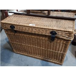 WICKER TRUNK W/CONTENTS - MOVIE PROP
