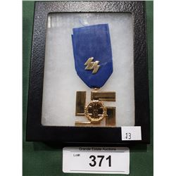 WWII NAZI SS MEDAL IN DISPLAY BOX - REPRODUCTION