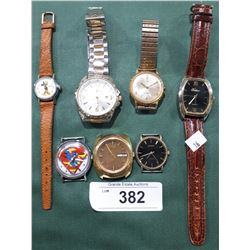 LOT OF 7 ASSORTED WRIST WATCHES