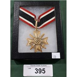 WWII NAZI MEDAL IN DISPLAY BOX - REPRODUCTION